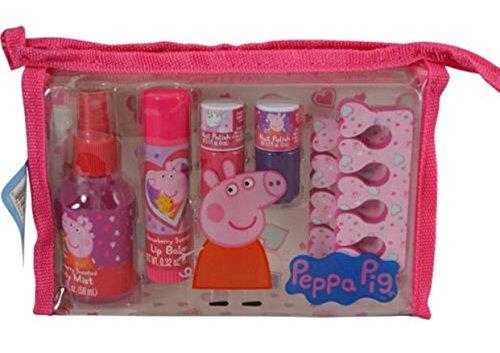 Shopkins or Peppa Pig Nail & Body Travel Christmas Gift Set For Girls over 3 years Old (PEPPA PIG) (Christmas Peppa's Set)