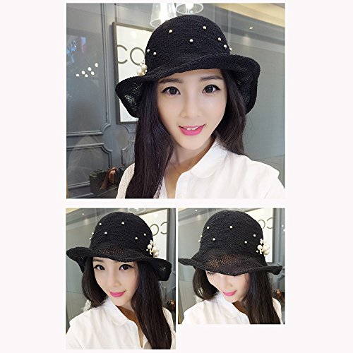 11ea4f58 GYH MaoZi LJHA Hat Sunhat Fisherman's Hat Female Foldable Leisure Hat Sun  Visor Hat Summer Basin Hat A Variety of Styles Can Be Selected (Color : G)