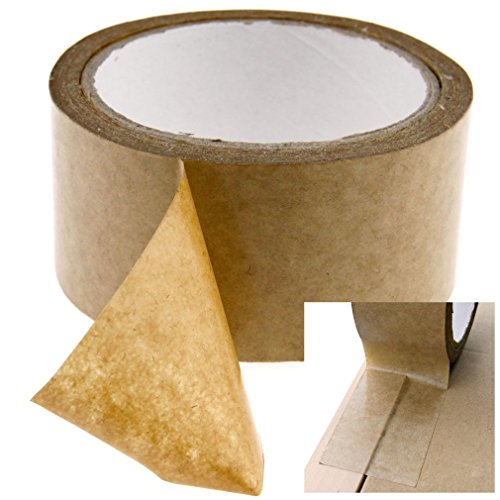 Brown Self-Adhesive Picture Frame Backing Tape Rolls of 50mm And 50m ()