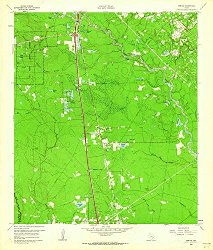 (YellowMaps Tamina TX topo map, 1:24000 Scale, 7.5 X 7.5 Minute, Historical, 1961, Updated 1962, 26.9 x 23 in - Polypropylene)