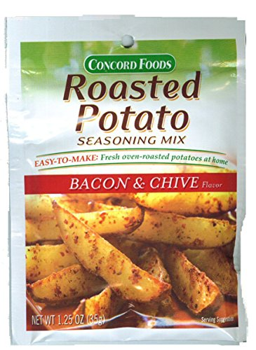 Concord Foods Roasted Potato Bacon & Chive Seasoning Mix 1.25oz Package (Value Case of 12 Packages) (1.25 Ounce Packages)