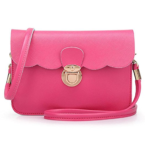 Monedero Rosa Cuero; Borsa Moda Donne Sannysis® In A Bolso De colore Rosa Caliente Di Pelle; Hot rosa Mujeres Modo Mano Pink Le q7WwZwcIn4