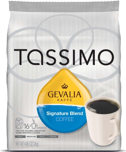 Tassimo Gevalia Kaffe Signature Blend Coffee, 16 T-Discs, Pack of 2