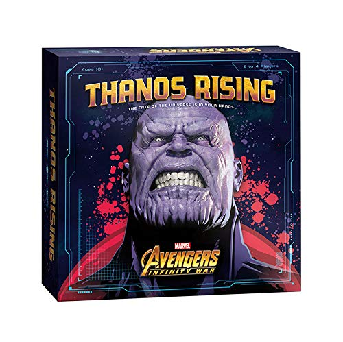 USAOPOLY Thanos Rising: Avengers Infinity War Cooperative Dice and Card Game | Marvel Avengers Endgame and Avengers Infinity War Movies | Collectible Thanos Figure Included]()