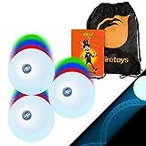 3x LED Strobe Effect Juggling Balls, Mr Babache Jugling Instruction Booklet & Bag