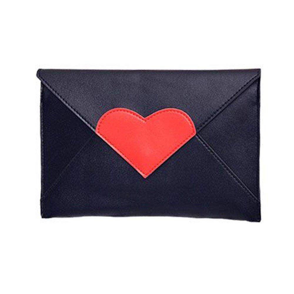 WugeshangmaoParty Purse for Women Deals,Women's Handbags Elegant,Teen Girls' Casual Heart-Shaped Messenger Bags Black