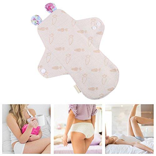 0mm Reusable Organic Cotton Menstrual Pad Washable Day&Night Panty Liner Sanitary Cloth(#4) (Cotton Cloth Menstrual Night Pad)