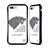 Official HBO Game of Thrones White Winds Graphics Hybrid Case for Apple iPhone 7 Plus / 8 Plus