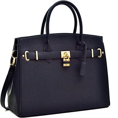 Women Large Handbag Designer Purse 2 Pieces Set Leather Satchel Top Handle Shoulder Bag