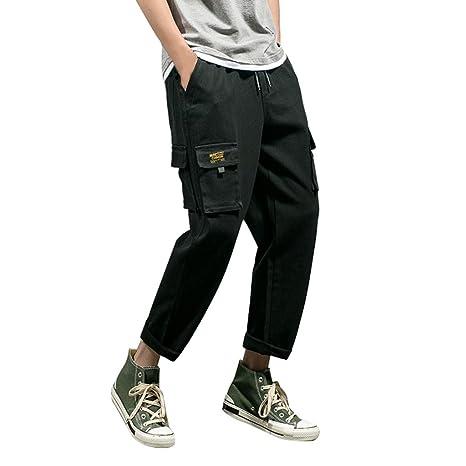 Amazon.com: Men Long Overalls Cargo Pants Fashion Casual ...