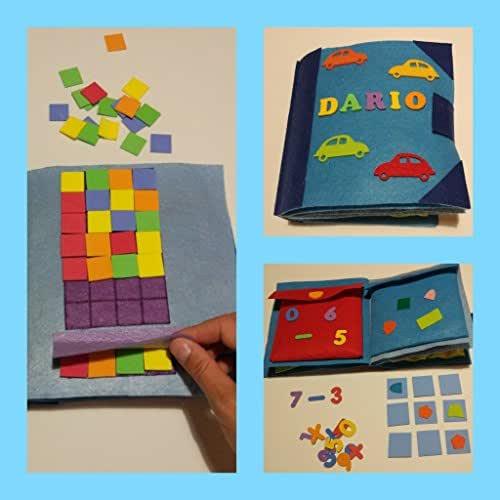 QUIET BOOK AZUL Libro sensorial con 3,4,6 ó 8 actividades