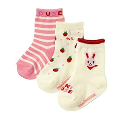 3 Pair Baby Girl Rabbit Polka Dotted Striped Multicolor Socks