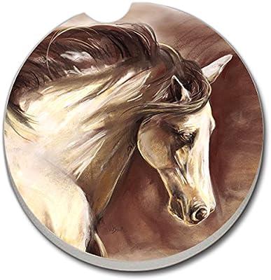 CounterArt posavasos de absorbente), diseño de coche de, libre caballo: Amazon.es: Hogar