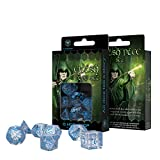 Elvish Dice Transparent/Blue