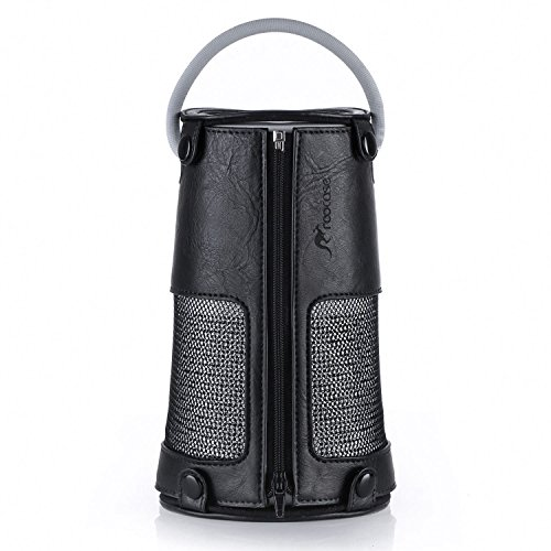Price comparison product image rooCASE Protective Case for Bose Revolve+ - Premium Vegan Leather Cover Sleeve Skin for Bose SoundLink Revolve Plus,  Black (NOT Compatible with Revolve)