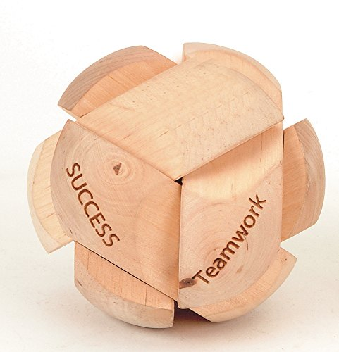 Handcrafted Jigsaw 3d Wooden Puzzle - Brain Teaser with Motivation