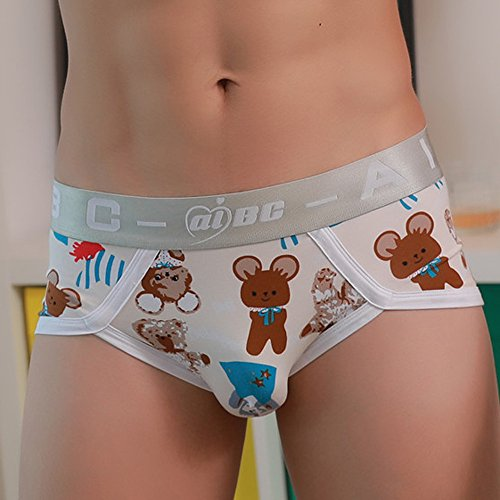 YAliDa 2019 clearance saleMens Sexy Underwear Shorts Underpants Cartoon Prints Soft Cotton Briefs Panties(XX-Large,) by YAliDA (Image #2)