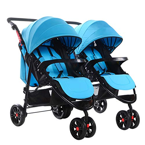 Twin Portable Baby Stroller Contours Curve Tandem Double Stroller, Toddlers Or Twins – 360° Turning, Multiple Seating Options,D