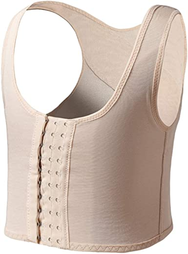 MISWSU Strong Compression Front Hooks Chest Binder for Tomboy Trans Lesbian