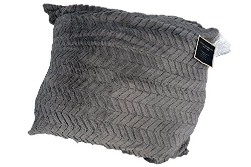 Christian Brand CHRISTIAN SIRIANO FAUX FUR FLOOR PILLOW - GREY CREME by Christian Brand