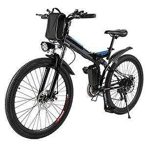 AMDirect Bicicletta da Montagna Elettrica Pieghevole con Ruote di 26 Pollici Batteria Litio di Grande Capacità 36V 250W… 2 spesavip