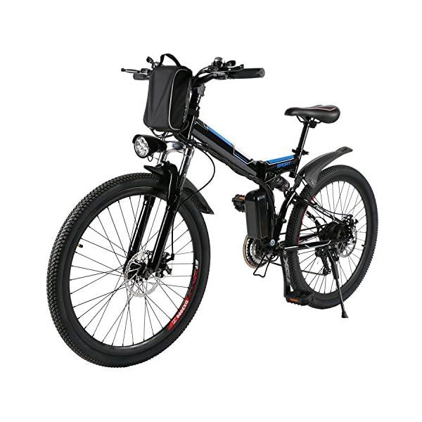 AMDirect Bicicletta da Montagna Elettrica Pieghevole con Ruote di 26 Pollici Batteria Litio di Grande Capacità 36V 250W… 1 spesavip