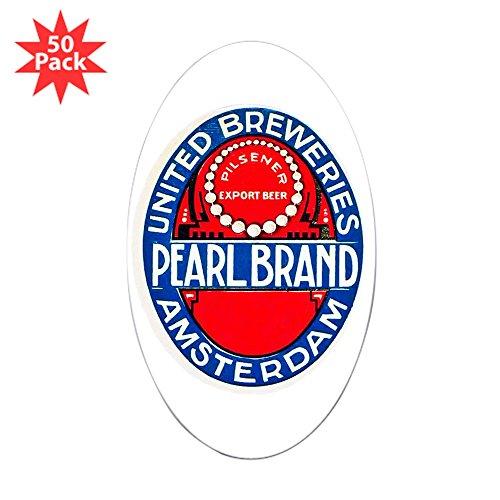 CafePress - Holland Beer Label 12 - Sticker (Oval 50 pk)