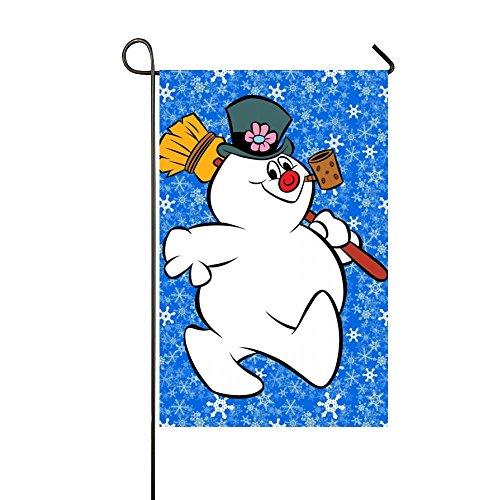 Rossne G sun Frosty The Cute Pig Snowman Garden Flag House Flag Decoration Double Sided Flag 12.5