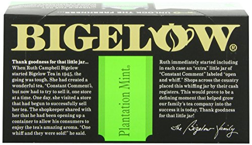 Bigelow Plantation Mint Tea, 20-Count Boxes (Pack of 24) by Bigelow Tea (Image #3)