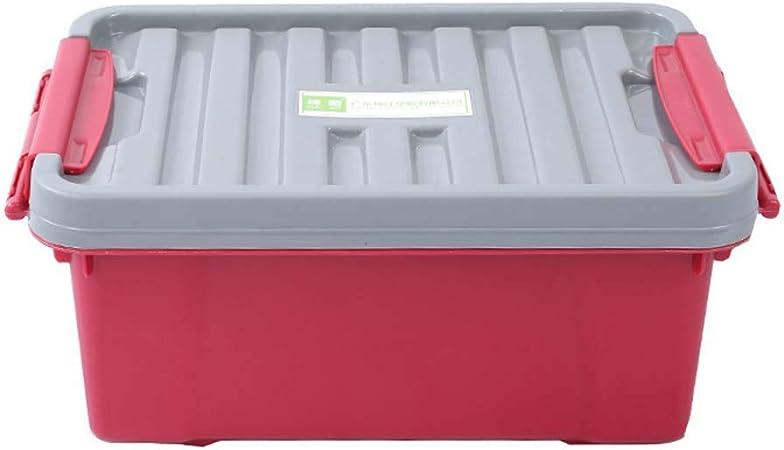 Caja de almacenamiento de plástico grande Caja de almacenamiento en seco apilable china de alta capacidad para el armario del hogar Dormitorio Cajas de almacenamiento para niños con Lids76X55X45.8cm: Amazon.es: Hogar