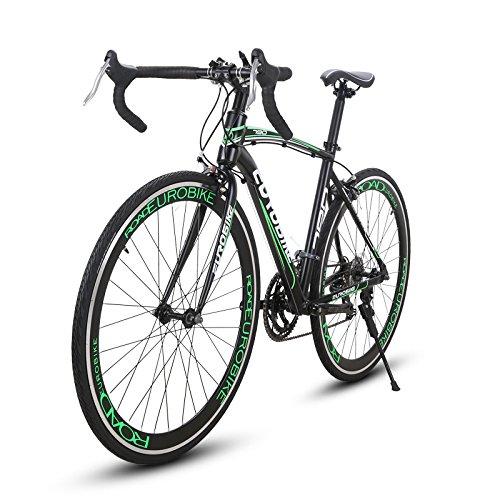 CYRUSHER(セラショウ XC790自転車 ロードバイク26インチ シマノ 14段変速 アルミフレーム ディスクブレーキ 通勤 通学 700*28C B076ZDPRR6グリーン