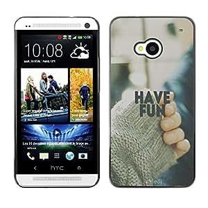 Dragon Case - FOR HTC One M7 - Wasted on crap - Caja protectora de pl??stico duro de la cubierta Dise?¡Ào Slim Fit