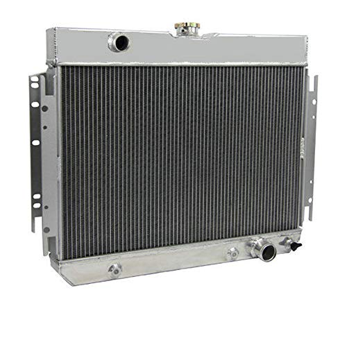 OzCoolingParts Pro 63-68 Chevy Series Radiator, 3 Row Core Full Aluminum Radiator for 1963-1968 1964 65 66 67 Chevy Bel-Air/Impala/Chevelle/EL Camino/Biscayne/Cappice and Many GM Cars