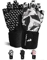Alphachoice Performance Fitness Handschuhe Damen und Herren mit Handgelenkschutz - Trainingshandschuhe für Krafttraining, Bodybuilding, Gewichtheben | Schwarz Grau Rosa Camouflage