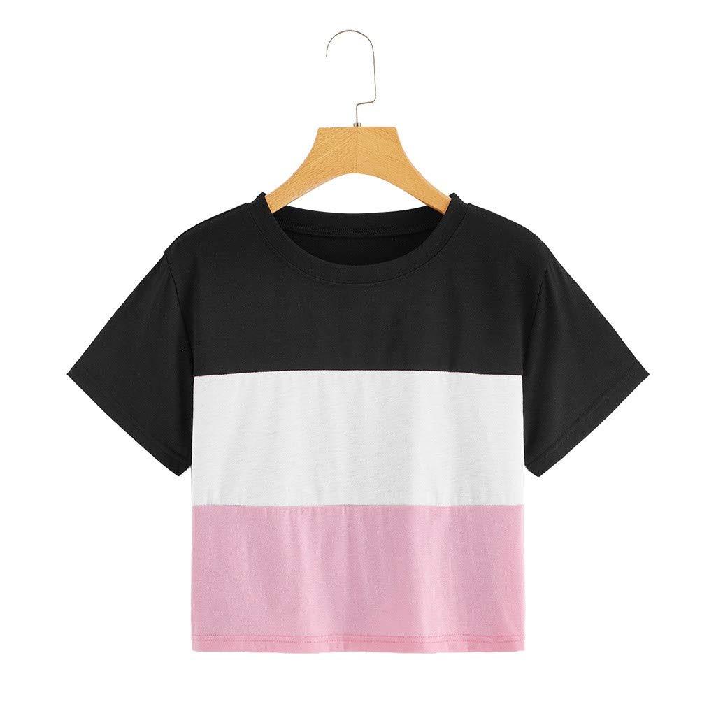 Amazon.com: HYIRI Blusa de color para mujer con diseño de ...