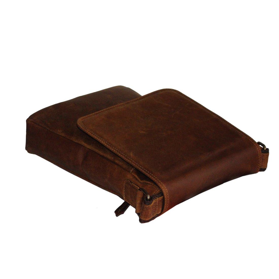 LUST Vintage Hunter Leather Unisex Messenger Sling Bag