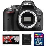 Nikon D5200 DSLR Camera Body with 32GB Card + Kit (Certified Refurbished)
