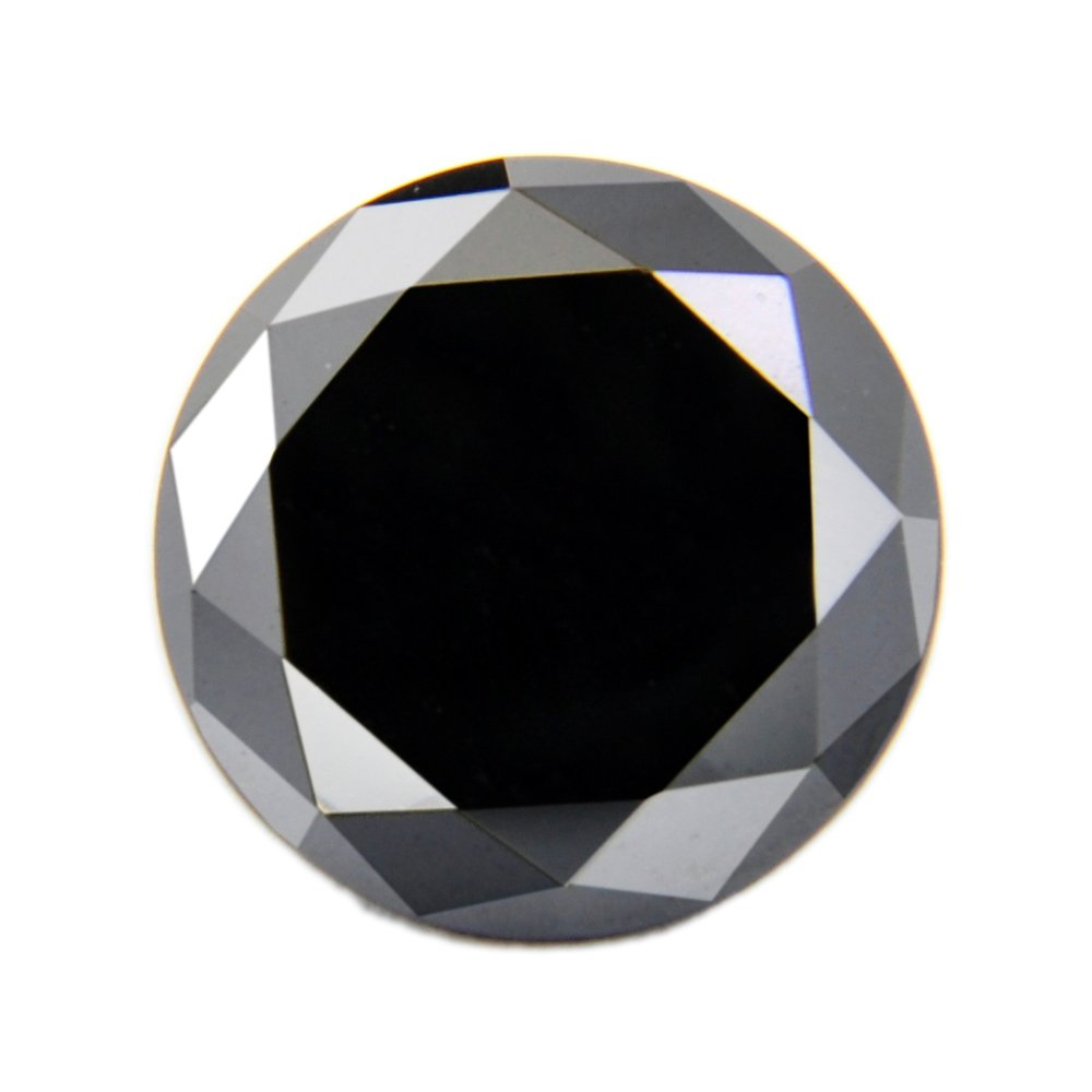 skyjewels Excellent Shine 4 Ct RBC Certified African Black Diamond