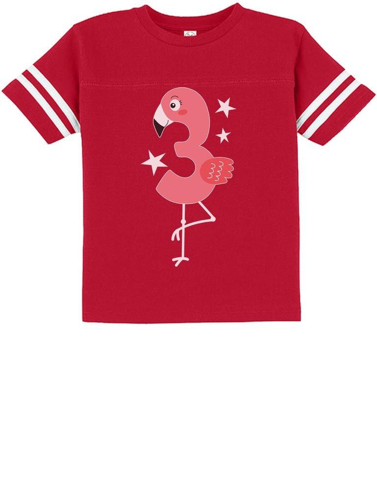 Tstars – Flamingo 3rd Birthday Gift for Three Year Old Toddler Jersey T-Shirt