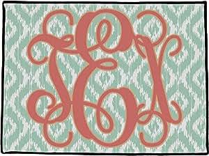 """Monograma Felpudo (personalizado), poliéster, multicolor, 24"""" x 18"""""""
