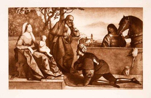 1897-photogravure-vincenzo-catena-religious-art-warrior-adoring-infant-jesus-original-photogravure