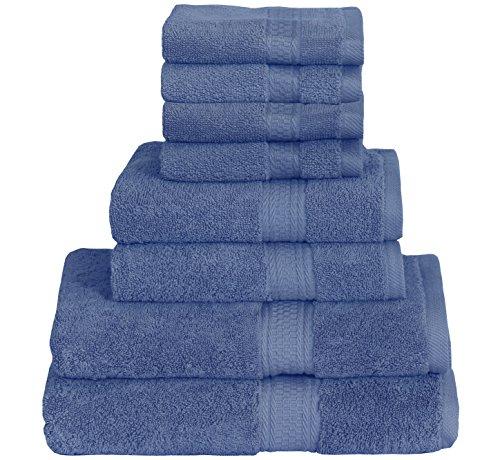 8 Piece Includes 2 Bath Towels, 2
