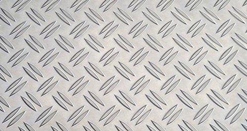 25x1500 Aluminium Riffelblech Duett-Warzenblech 1,5//2 L/änge 1500mm
