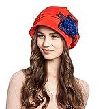 Maitose Trade; Women's Cotton Peaked Cap Beret Red