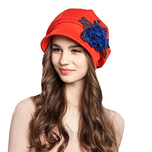 "Maitoseâ""¢ Women's Cotton Peaked Cap Beret Red"