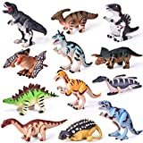 Wind Up Toys 12 PCs Assorted Dinosaur Toys for Toddlers, Dinosaur Figures, Dinosaur Party Favor