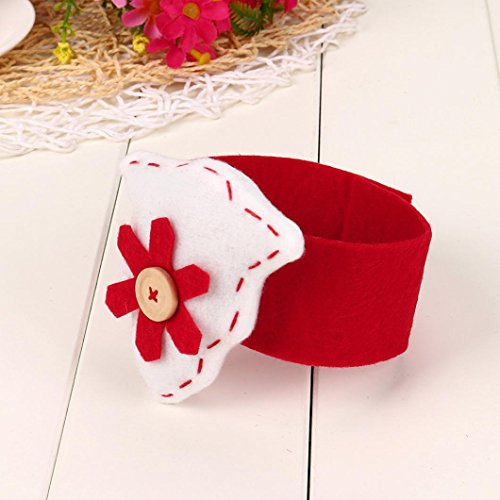 Value Village Costumes For Girls (Iuhan Christmas Tree/Heart Napkin Ring Table Serviette Holder Banquet Red Xmas Decors (B))
