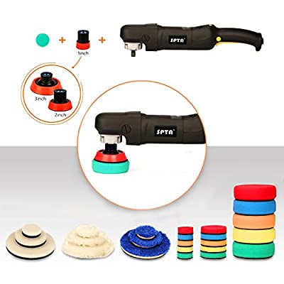 SPTA 29pcs Drill Buffing Pad Detail Polishing Pad Mix Size Kit with 5/8-11 Thread Backing pad & Adapters for Car Sanding, Polishing, Waxing, Sealing Glaze: Automotive