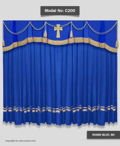 Superior Saaria Church Curtains With Cross On Valance Backdrops Custom Church  Drapery 15u0027 W X ...