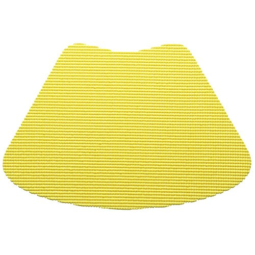 12 Piece Lemon Fishnet Placemat, Traditional Style, Lace Material, Solid Pattern, Wedge Shape, Machine washable, Perfect For Everyday, Fade Resistant And Durable, Light Yellow by PATRIOT HOME